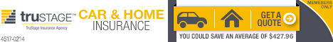 TruStage Car & Home Insurance.  Get a Quote.  You could save an average of $427.96
